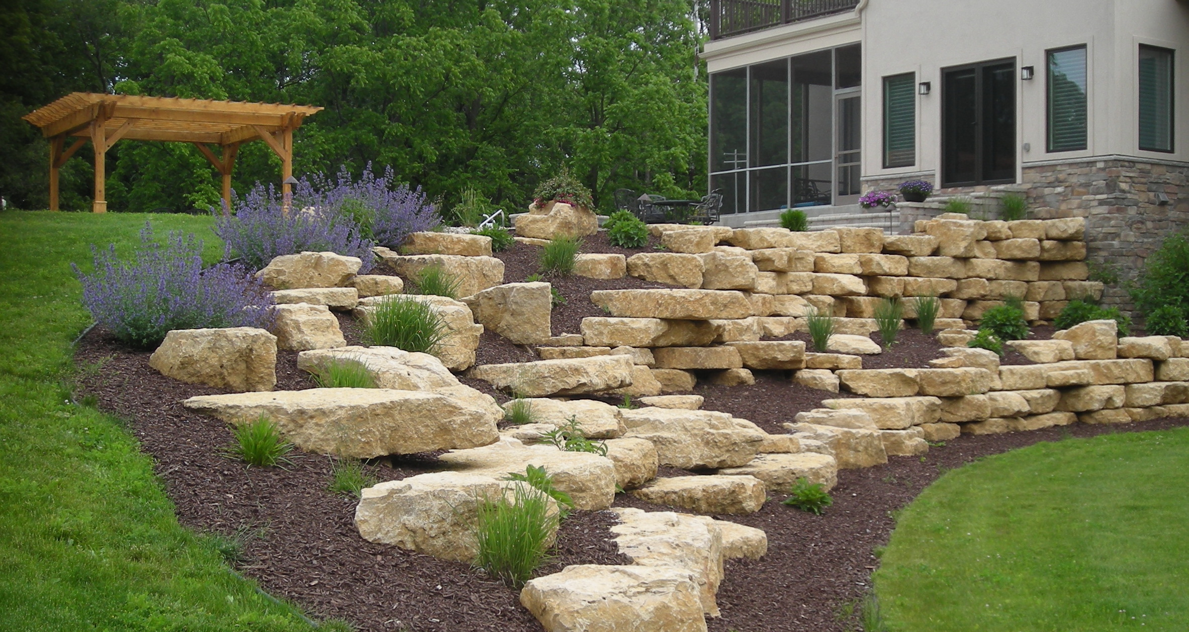 We Build Pavers To Create Beautiful Effect In Landscaping Omaha